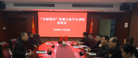 """市文旅广体局考察调研 """"乐游郴州""""智慧文旅平台"""